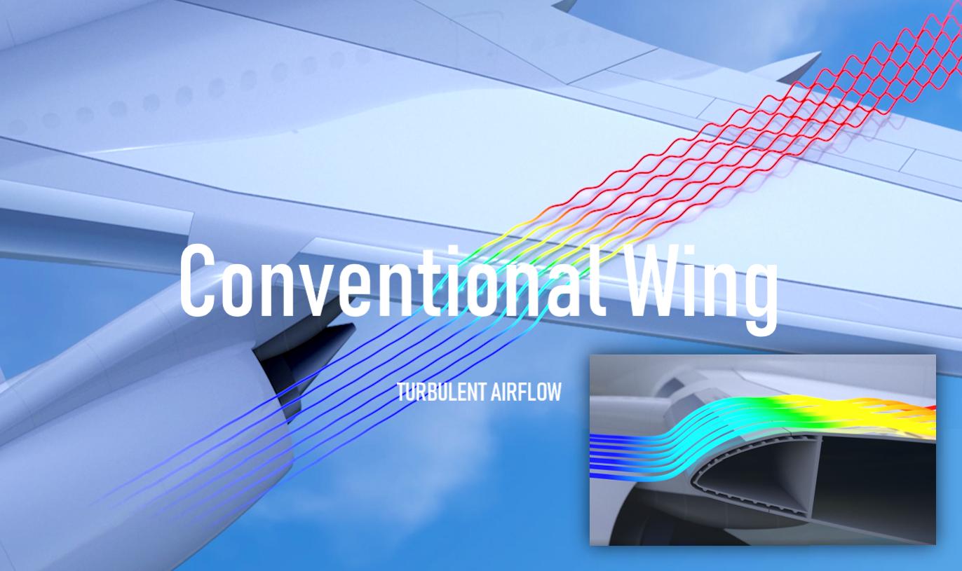 Turbulent wing